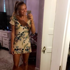 For Love & Lemons And UO Bright Floral Romper